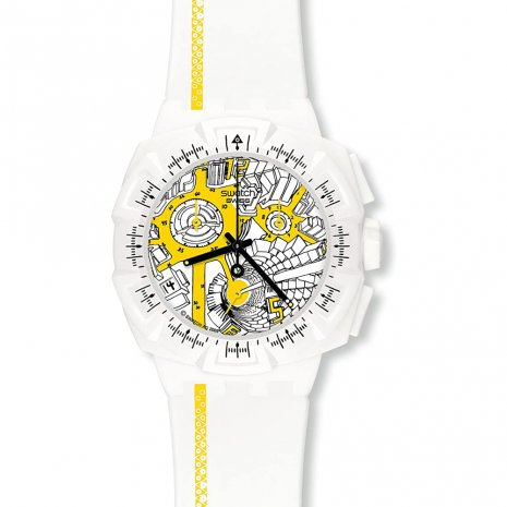 Swatch Street Map Yellow Uhr
