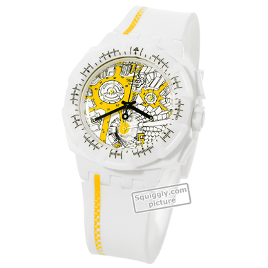 White Resin Chronograph with Date Herbst / Winter Kollektion Swatch