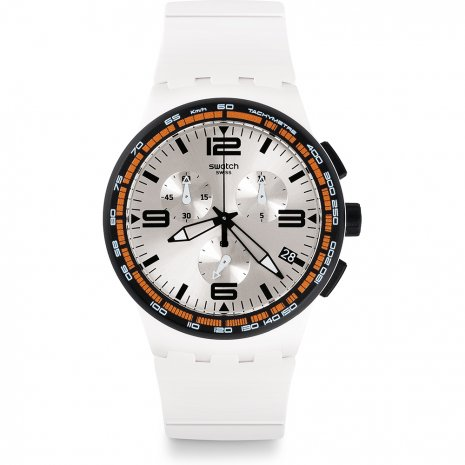 Swatch White Blades Uhr